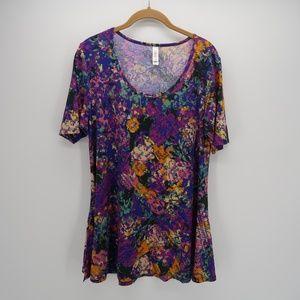 Lularoe Purple Short Sleeve Tunic Size M